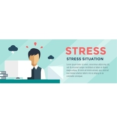 Clerk at Stress Office Table vector image vector image