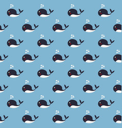 cute whales vector image