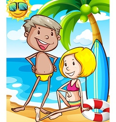 People and beach vector image vector image