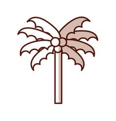 shadow beach palm cartoon vector image vector image