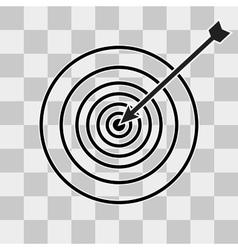 Successful shoot Darts target aim icon vector image vector image