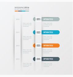 timeline design orange blue gray color vector image vector image