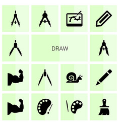 14 draw icons vector