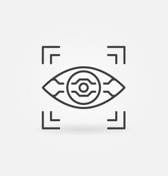 Ai eye icon in thin line style vector