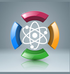 Atom icon science infographic vector