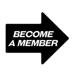 Become a member black stamp vector