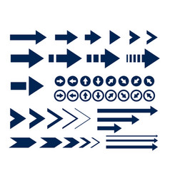 big arrow icons set collection vector image