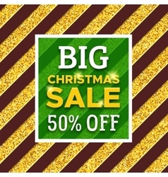 Big Christmas Sale 50 percent off promotion banner vector image