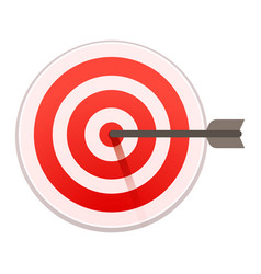 Bulls eye target icon cartoon style vector