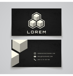 Business card template Abstract cubes concept vector image