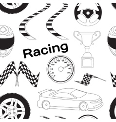 Car racing pattern vector