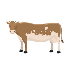 Cartoon cow farm animal vector