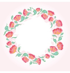 circle flowers vector image