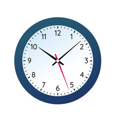 Classic round wall clock in black body vector