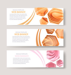 Color image horizontal banners with blurred vector