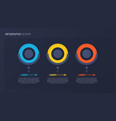 colorful infographic design template concept vector image