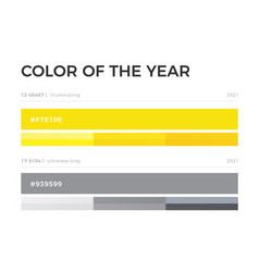 Colors year 2021 swatch grey and yellow vector