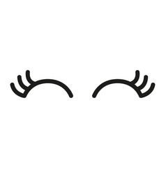 cute cartoon eyes with lashes vector image