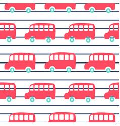 Cute london city buses seamless pattern wallpaper vector