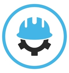 Development Helmet Flat Icon vector image