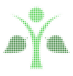 ecology man halftone icon vector image