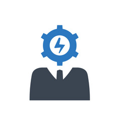 Efficient business person icon vector