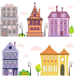 european-house vector image