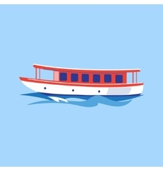 Excursion ship on the water vector