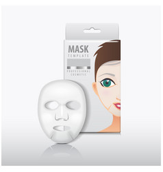 facial sheet mask with white paper box vector image