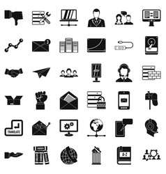 Fellowship icons set simple style vector