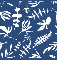 Floral foliage seamless pattern vector