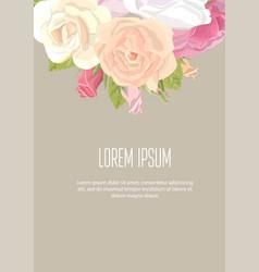 Floristic elements corporate identity on kraft vector