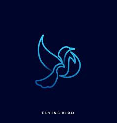 flying bird template vector image