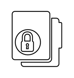 folder with padlock isolated icon design vector image