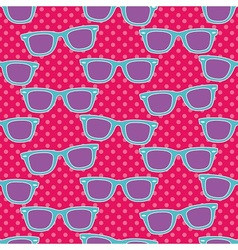 Funky glasses pattern vector