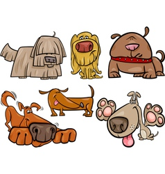 funny dogs set cartoon vector image vector image