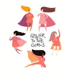 Girl power card vector