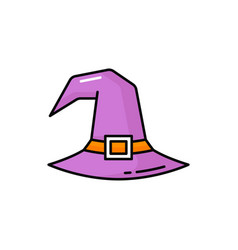 halloween headdress witch hat with buckle isolate vector image