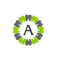 Healthy dental care letter a vector