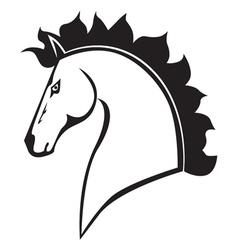 horses head black vector image vector image
