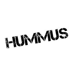 Hummus rubber stamp vector
