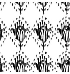ikat seamless bohemian ethnic black and white vector image
