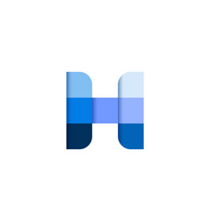 initial letter h square pixel logo design vector image