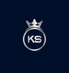 Initial letter ks logo template design vector