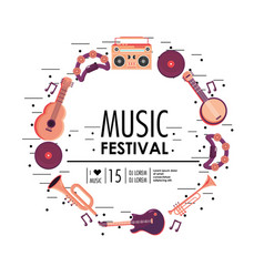 instruments equipment to music festival vector image