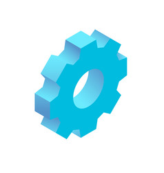 isometric simple icon vector image