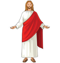 jesus christ also referred to as jesus of nazareth vector image