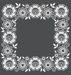 lace floral frame design ornamental square vector image