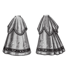 Layered skirt vintage engraving vector