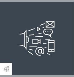 marketing line icon vector image